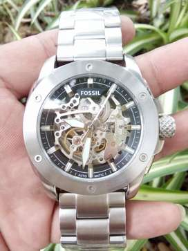 Fossil automatic US patent all stenlis stell 45mm for man