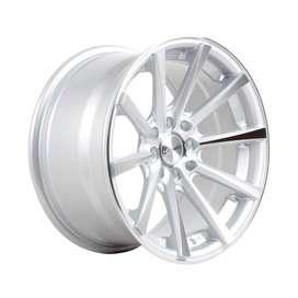 Velg HSR JD9018 Ring16X85 H8X100-1143 ET35 Silver Machine Face 2