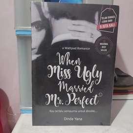 Novel wattpadd When Miss Ugly married Mr Perfect - Dinda Yana