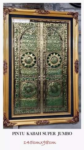 Hiasan dinding kaligrafi pintu kabah super jumbo