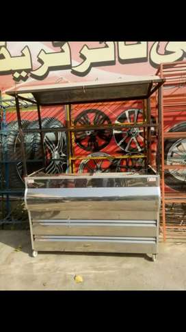 Burger counter @ Hot Plate + Fryer ,10/9 Condition, 3 month Use only