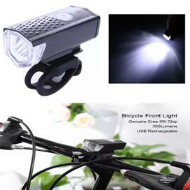Lampu Depan Sepeda Dapat Diisi Ulang