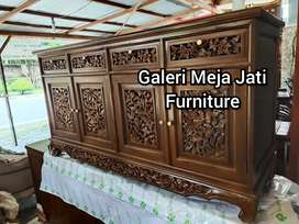 Meja tv bahan kayu jati D271 talk