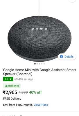 New unused Speaker google home mini 1st gen wifi Bluetooth