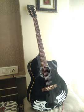 JIMM brand Guitar with cover & best condition - rear used