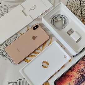Iphone xs max 256gb gold fullset original siap pakai battery 95% ori