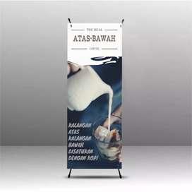 Cetak X-banner+rangka