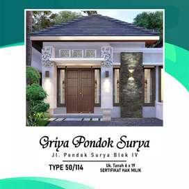 Rumah bagus terlaris Jl blok 4 pondok Surya