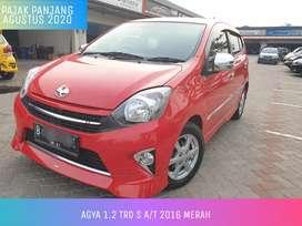 Agya TRD S AT Automatic 2016 Merah Istimewa Cash 102juta nego