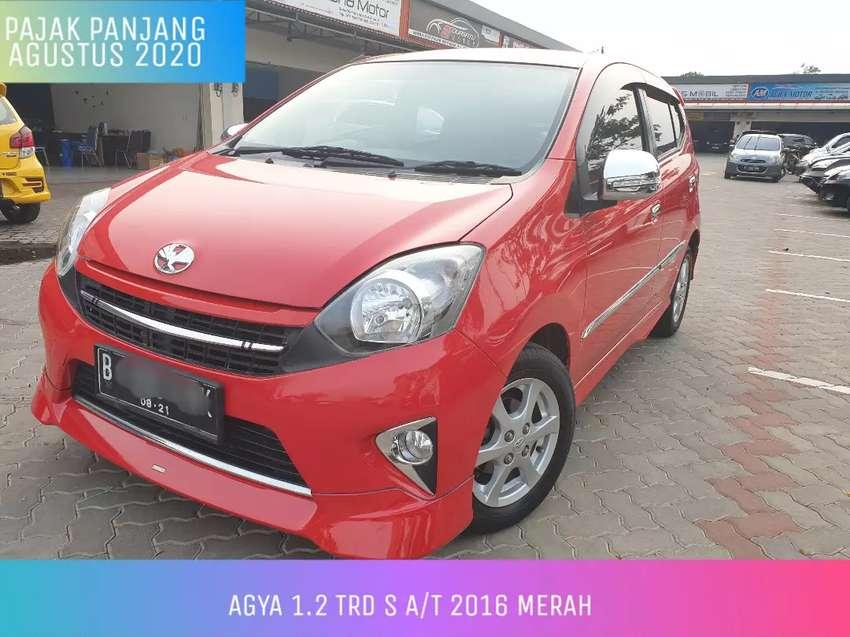 Agya TRD S AT Automatic 2016 Merah Istimewa Cash 102juta nego 0