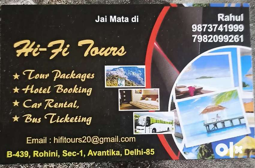Hi-fi tours all india tour package available