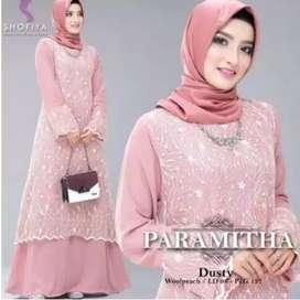 Gaun Muslim Brokat Cocok Untuk Acara Pesta