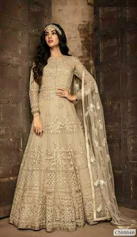 Magical Soft Net Floral Embroidered Anarkali Gown