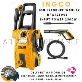 HPWR25008 - INGCO High Pressure Car Washer - 2500 Watt 160 Bar