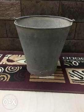 Iron Bucket ( Heavy Sheet) with Plastic Mug