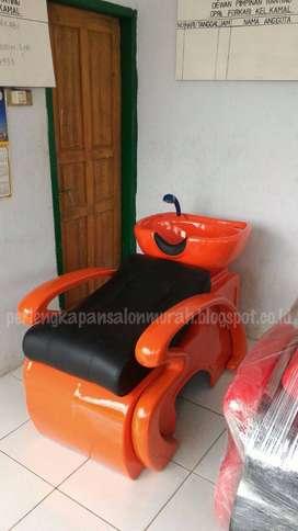 bak keramas salon rangka orange atau kursi keramas