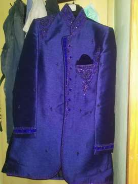 Western Sherbani suit for functions.