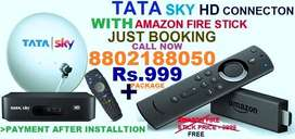 DHAMAKA#OFFER TATA SKY NEW HD CONNECTION WITH AMAZON FIRE STICK Rs.999
