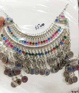 statment necklace with earring fashion necklace for women handmade set
