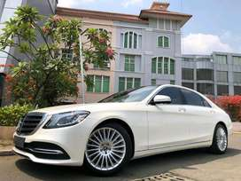 S450 AMG 2018 Facelift White On Black Km5000 Full Option Rear Ottoman