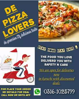De pizza lovers we are open for delivery in karachi 12am to 5am