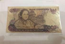 Jual Uang Kuno 10.000 Kartini Tahun 1985