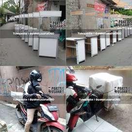 booth portable, gerobak lipat, container, makanan minuman viral hits