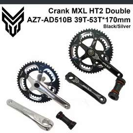 Crank Set MXL Hollow Tech II Double 53-39T