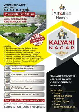 Residential plots available in veppampattu