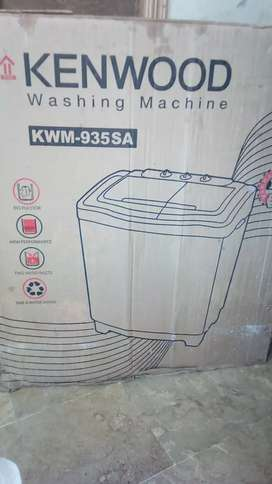 Washing machine compony kenwood with dryer. It is sealed pack machine.