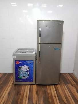 Lg 292 ltrs double door refrigerator and washing machine