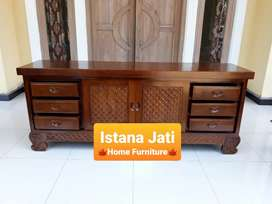 Meja  tv jati solid finishing jepaara 02