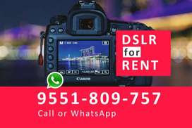 DSLR for RENT in Chennai only