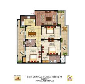 Flat 3 BHK For sale in Palm Village sector 126 Mohali