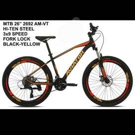 Sepeda Gunung MTB Aviator 2692 AM VT 26inch Black Red