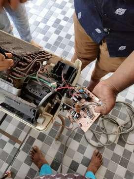 Hamare yahan AC fridge washing machine microwave LED TV repairing
