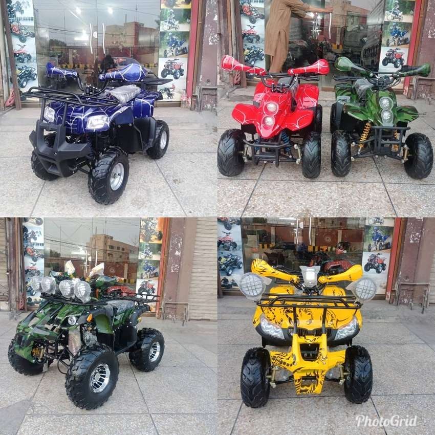 Grand Stock 50cc To 250cc Atv Quad 4 Wheels Bike Deliver In All Pak 0