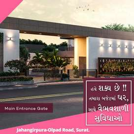 With 51,000 you can now book a 2BHK Row House at Olpad Masma Road.