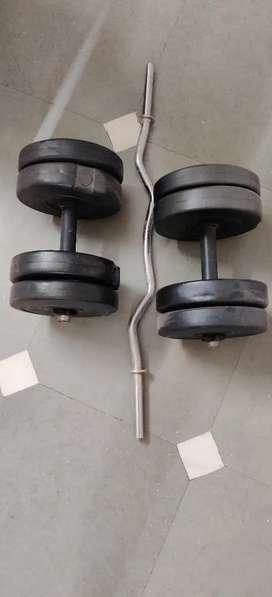 Dumbbell + barbell set