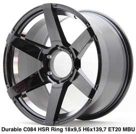 Velg murah harga distributor DURABLE C084 HSR R18X95 H6X139,7 ET20 BMU