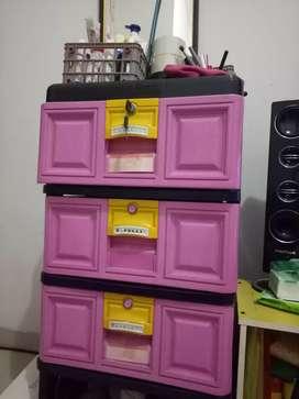 lemari plastik 3 tingkat