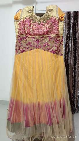 One piece, golden color and pink at discount price