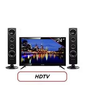 LED TV POLYTRON + SPEAKER PLD24T8511 A.EXY