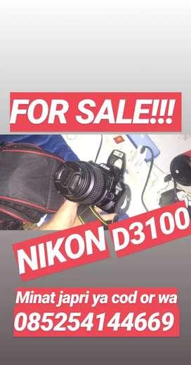 Nikon D3100 for sale 2,9 jt  Kondisi normal Jaya