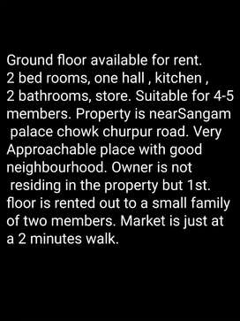 Ground floor available for rent.