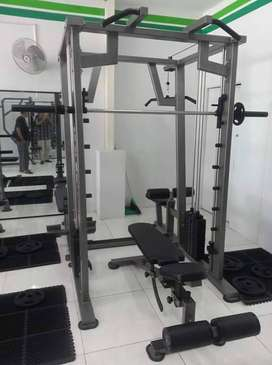 smith machine katrol rowing