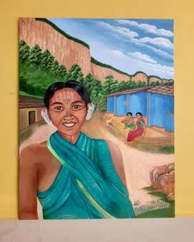 Paintings on locally of chhattisgrah and more. Depends on your desire