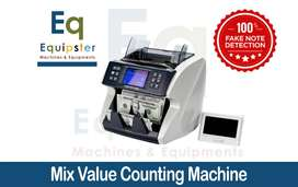 Mix Currency Counting Machine - Value Counting Machine - Cash Counting