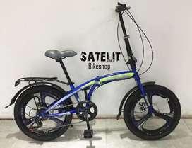 Sepeda Lipat Folding Bike Interbike Veleg Racing Ukuran 20 Inch