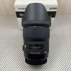 Lensa Sigma 35mm F1.4 DG Art for Canon Fullset